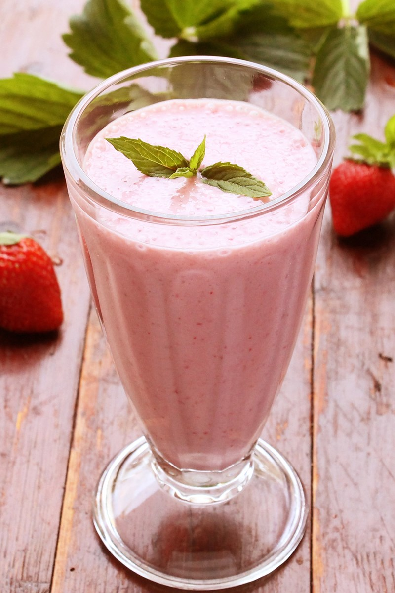 Strawberry Vanilla Milkshake Weight Watchers Kitchme