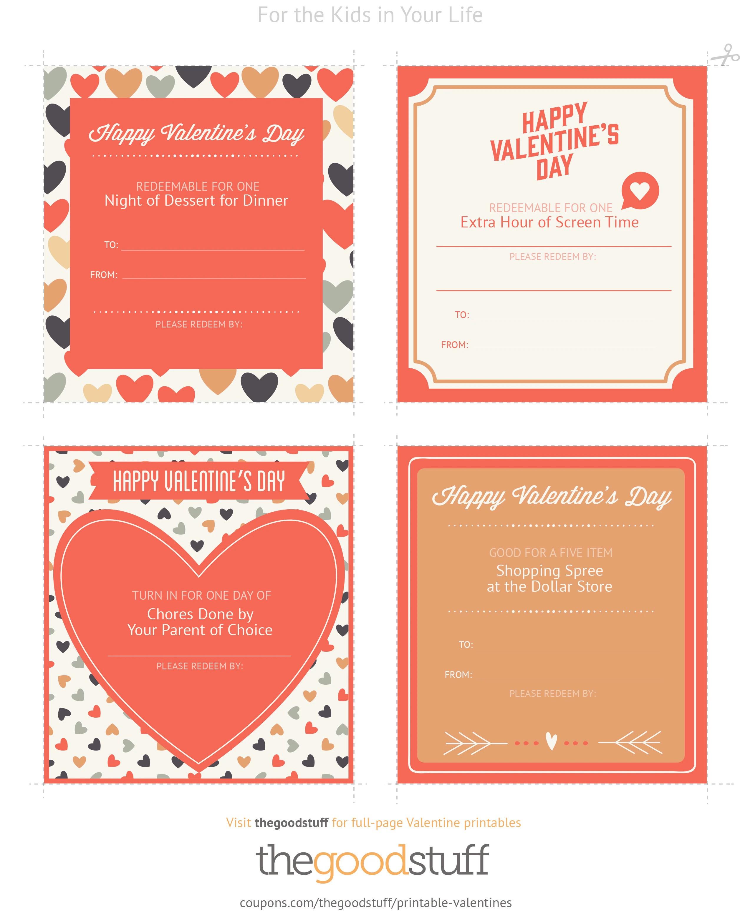 Exclusive Printable Valentine Coupons
