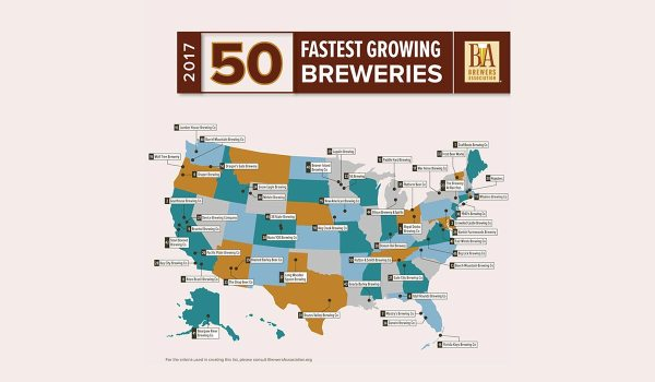 50 Fastest Growing U.S. Craft Brewers