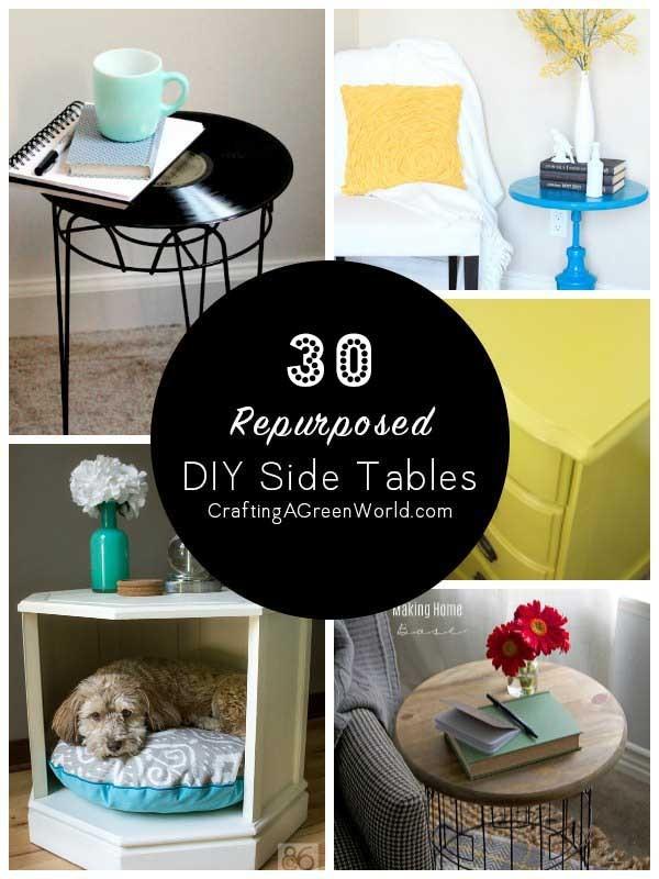 30 diy side table ideas reduce reuse