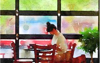 Woman reading by Linda Naiman © 2016