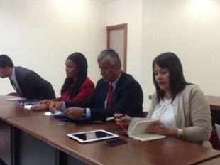 En la reunión participan el ministro de Trabajo, Víctor Morales, la presidenta ejecutiva de Japdeva, Ann McKinley, la viceministra de Presidencia, Ana Gabriel Zúñiga.