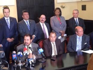 Los diputados de oposición que se aliaron para conformar el nuevo directorio. CRH.