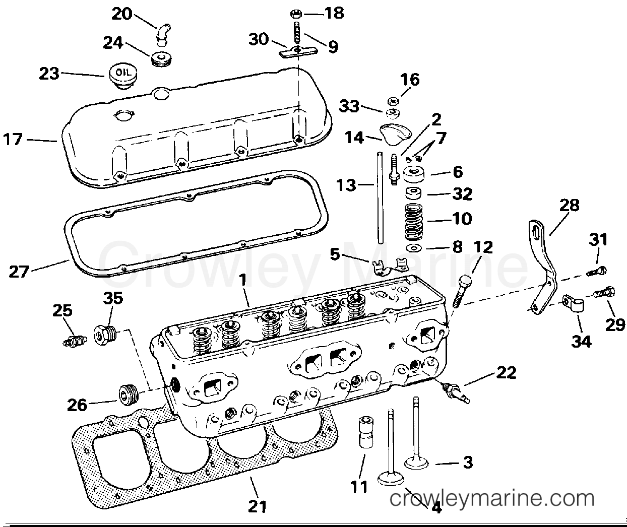 Cylinder Head 744apergd Amp 744apergf Models