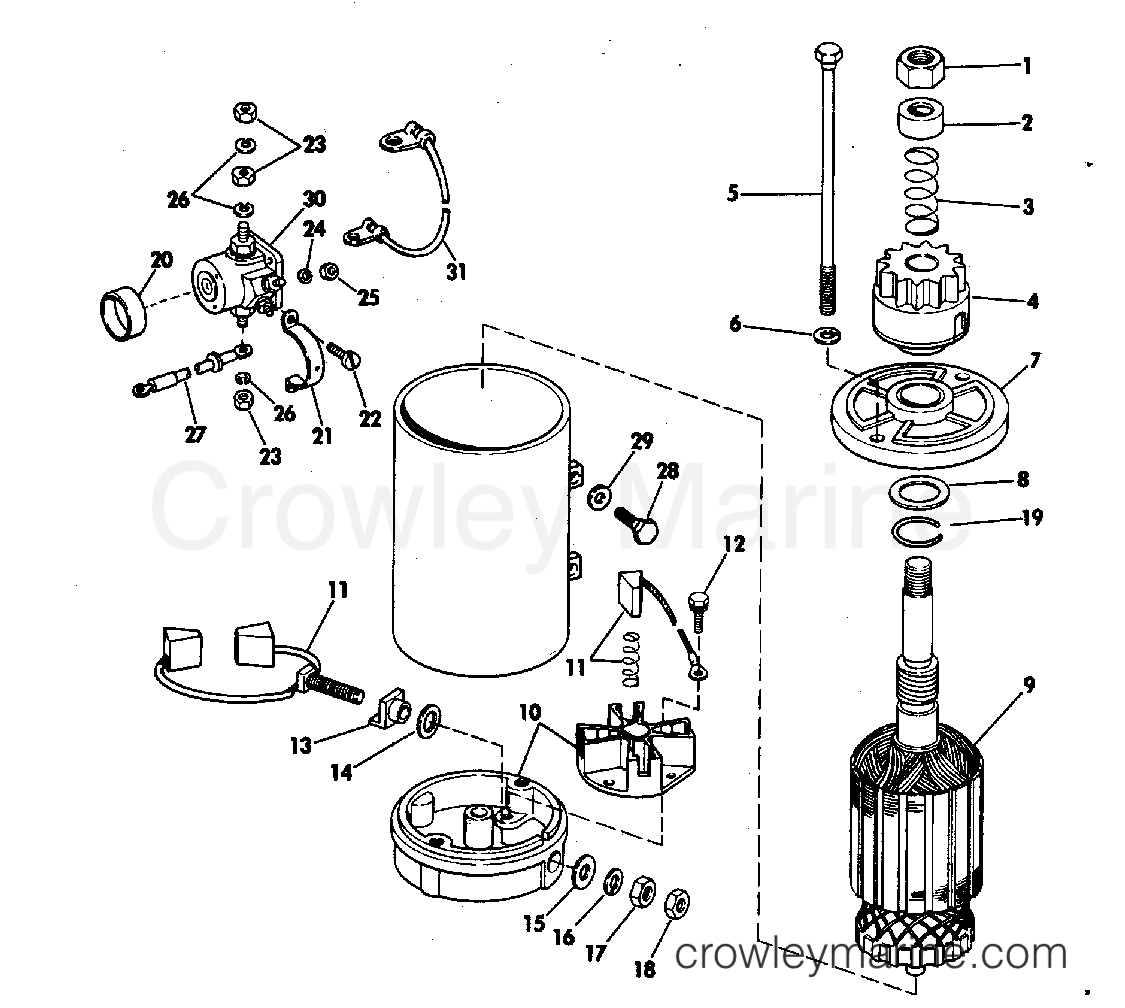 Electric Starter Amp Solenoid American Bosch 23 M03