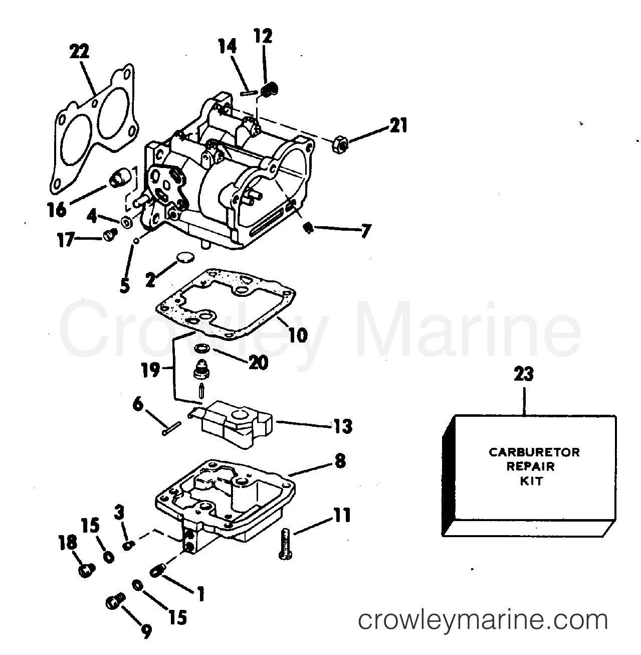 Carburetor Early Production 90 115 Only