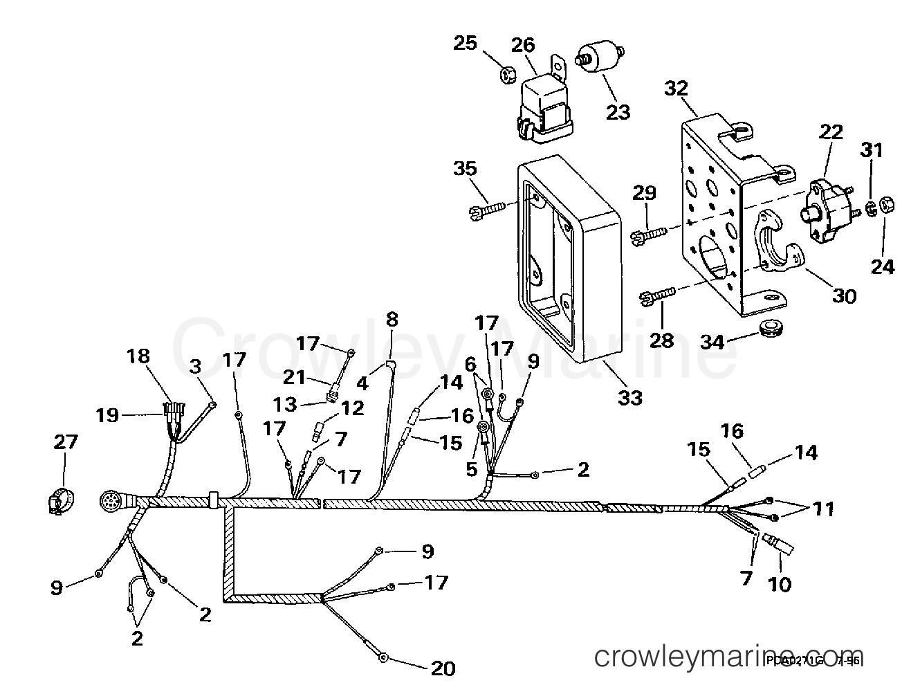 Engine Wire Harness Amp Bracket 2v Models