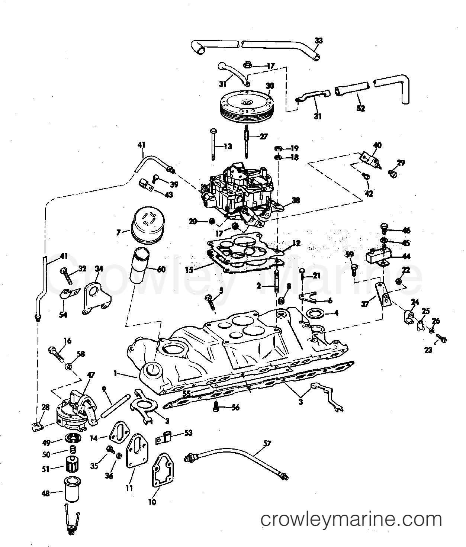 Intake Manifold Fuel Pump And Carburetor Lines 210 Hp