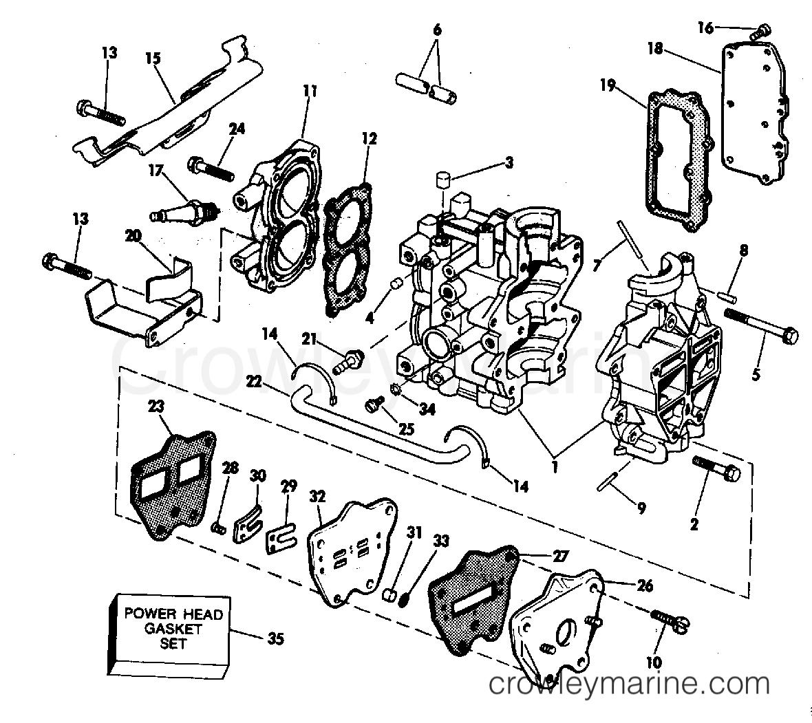 Cylinder Amp Crankcase 4 5 Amp Intake Manifold