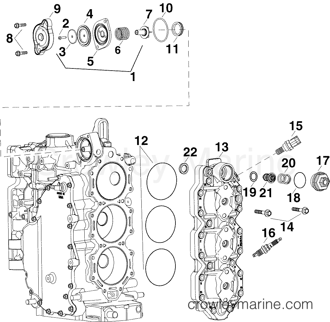 Cylinder Head Amp Thermostat