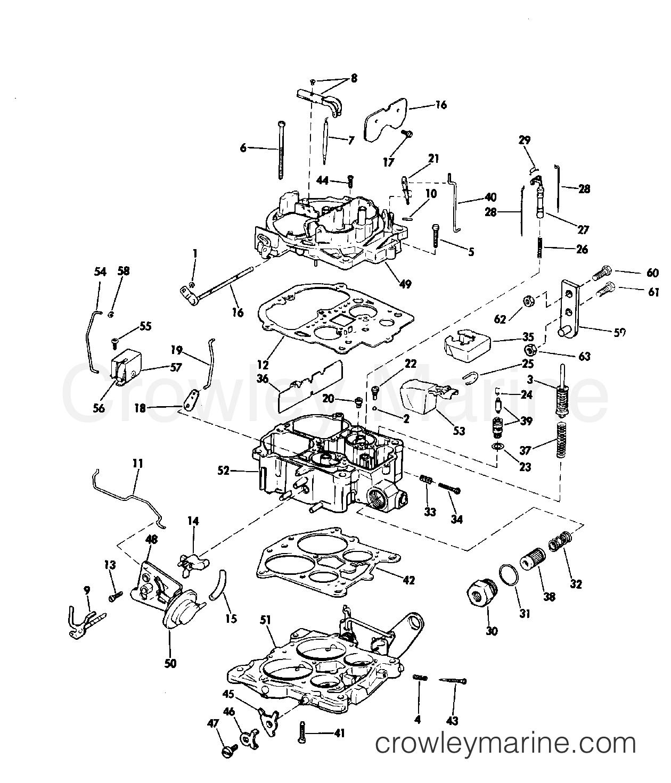 Carburetor Group 225 Hp Models