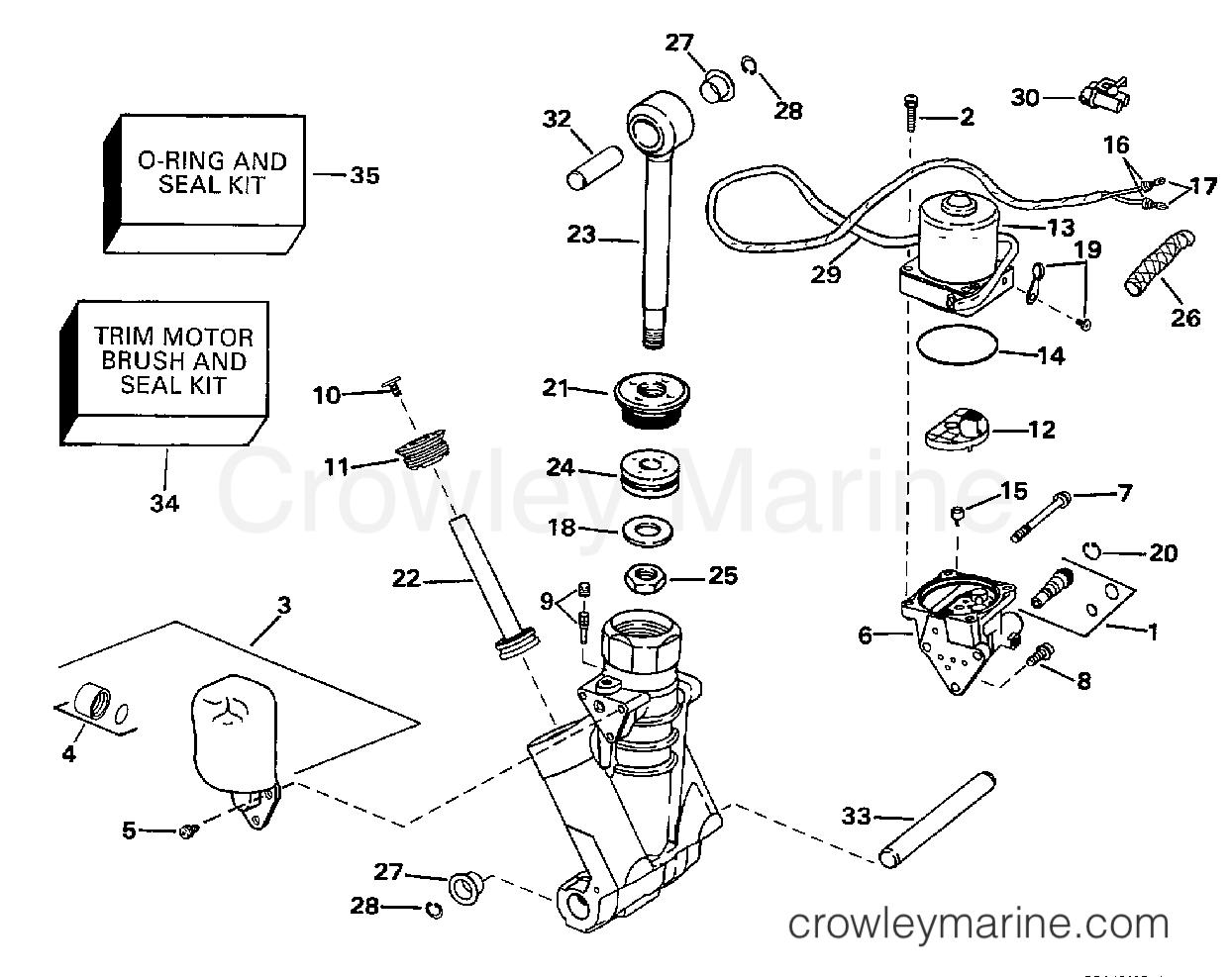 Power Trim Tilt Hydraulic Assembly