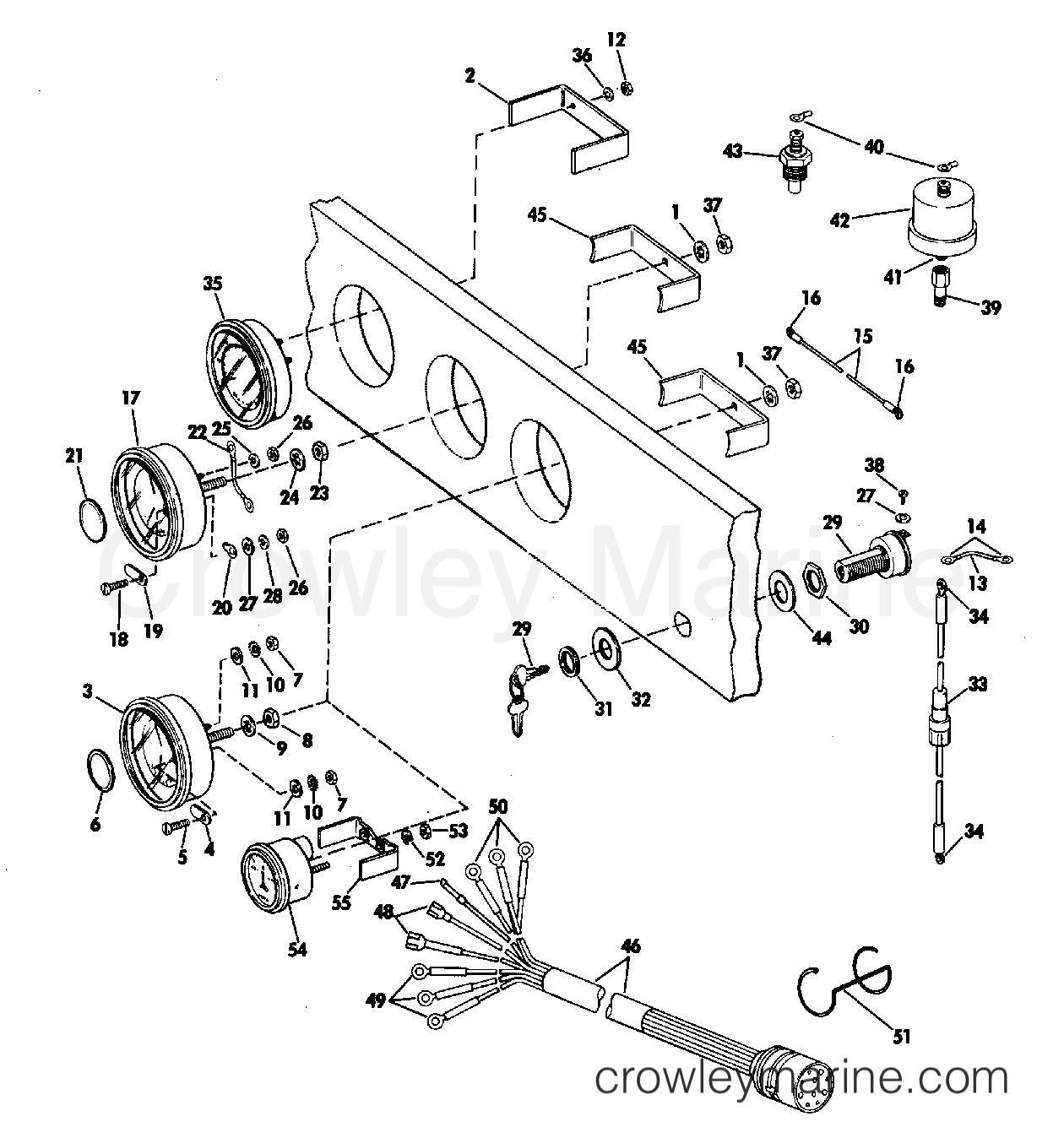 Instrument Kit Assembly Ring Bezel 245 Jet Drive