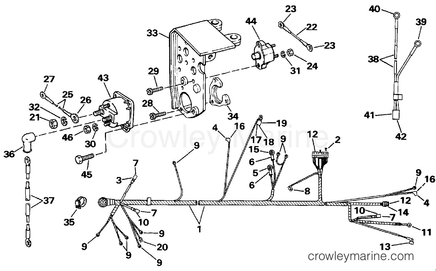 Engine Wire Harness Amp Bracket