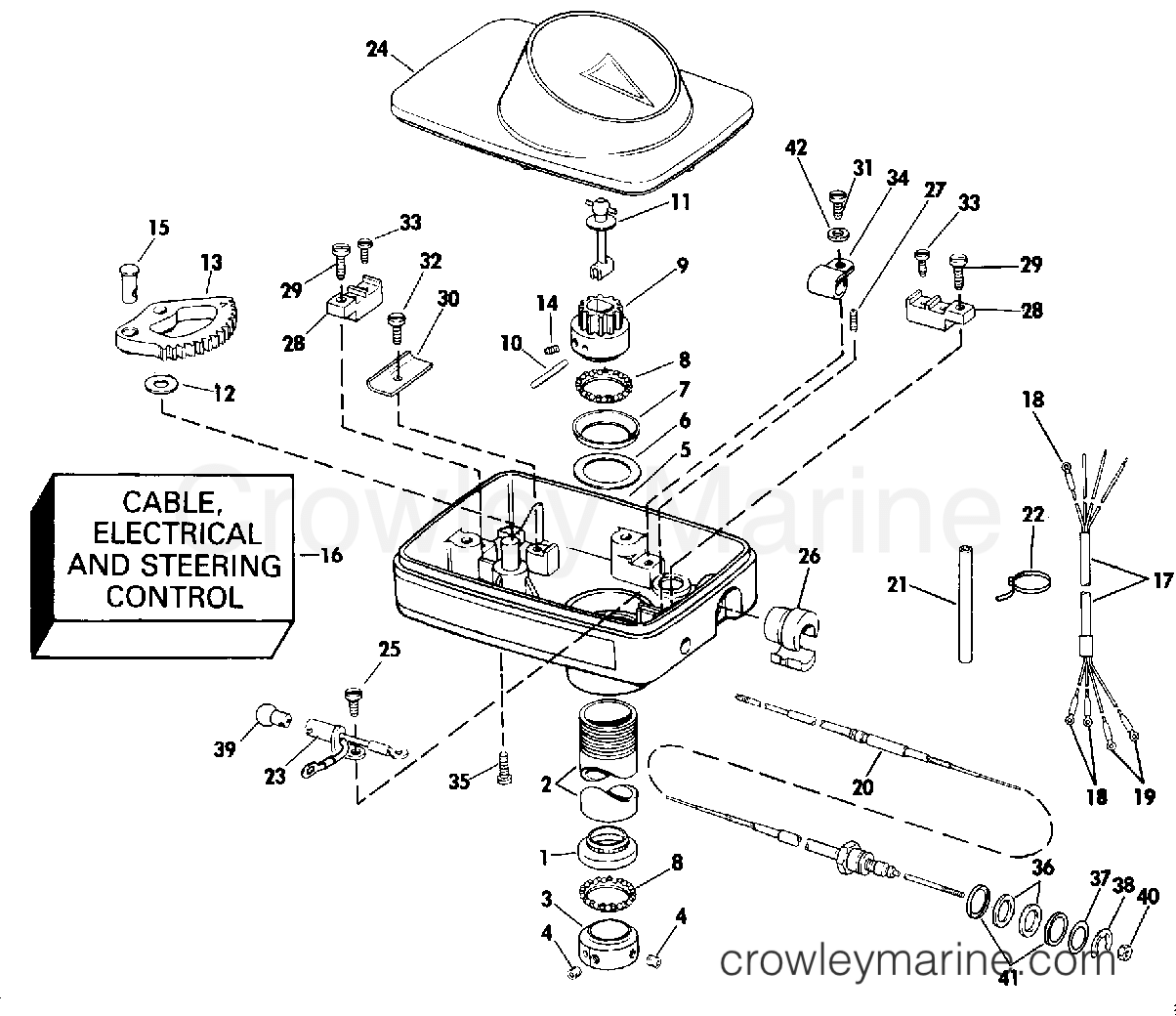 Steering Housing Group Foot Control A Or Y Mdl Suffix