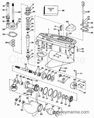 1988 OMC Stern Drive 5 [504APRGDP]  Parts Lookup