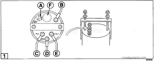 installation instructions tachometer kit  crowley marine