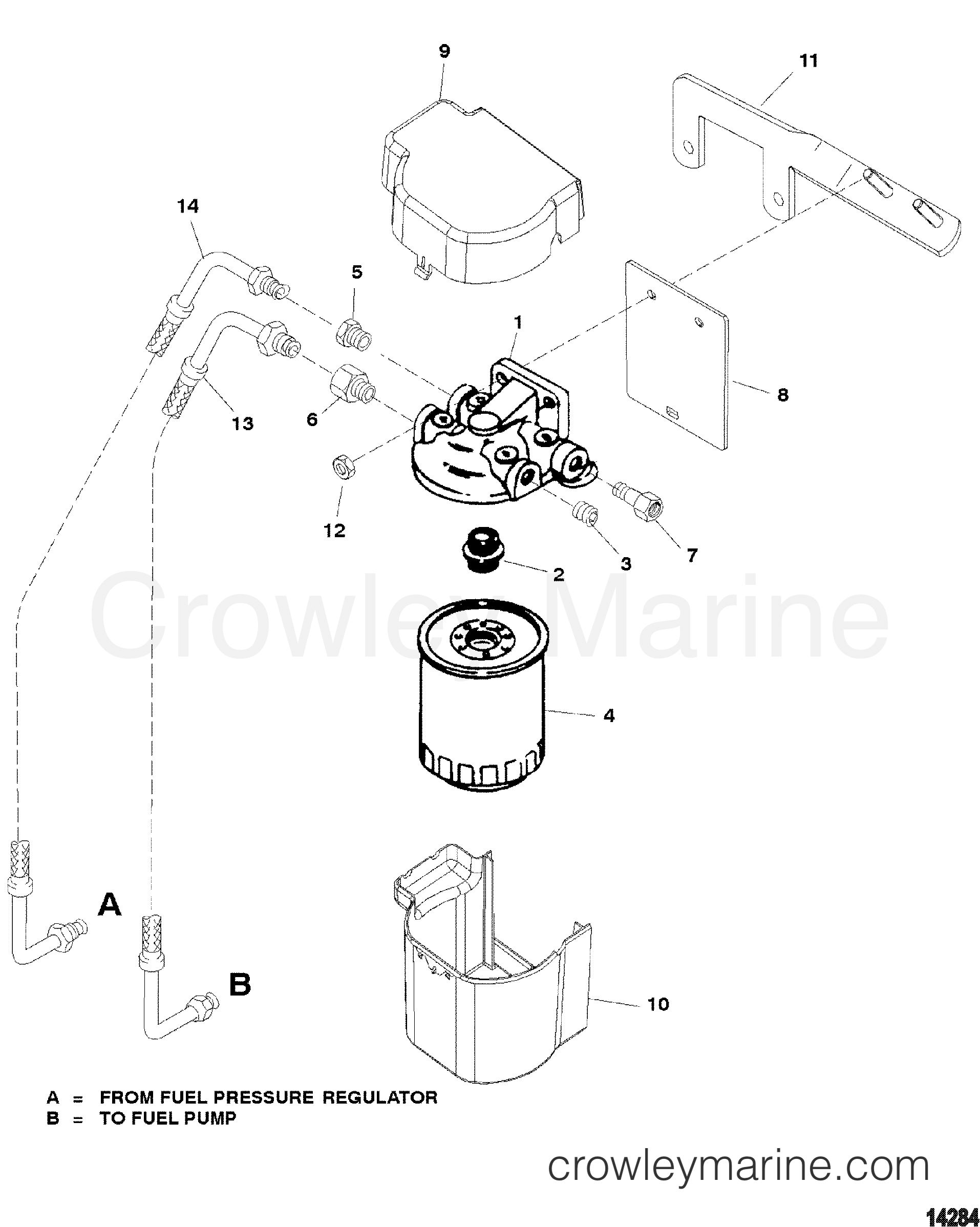Fuel Filter Fuel Cooled System