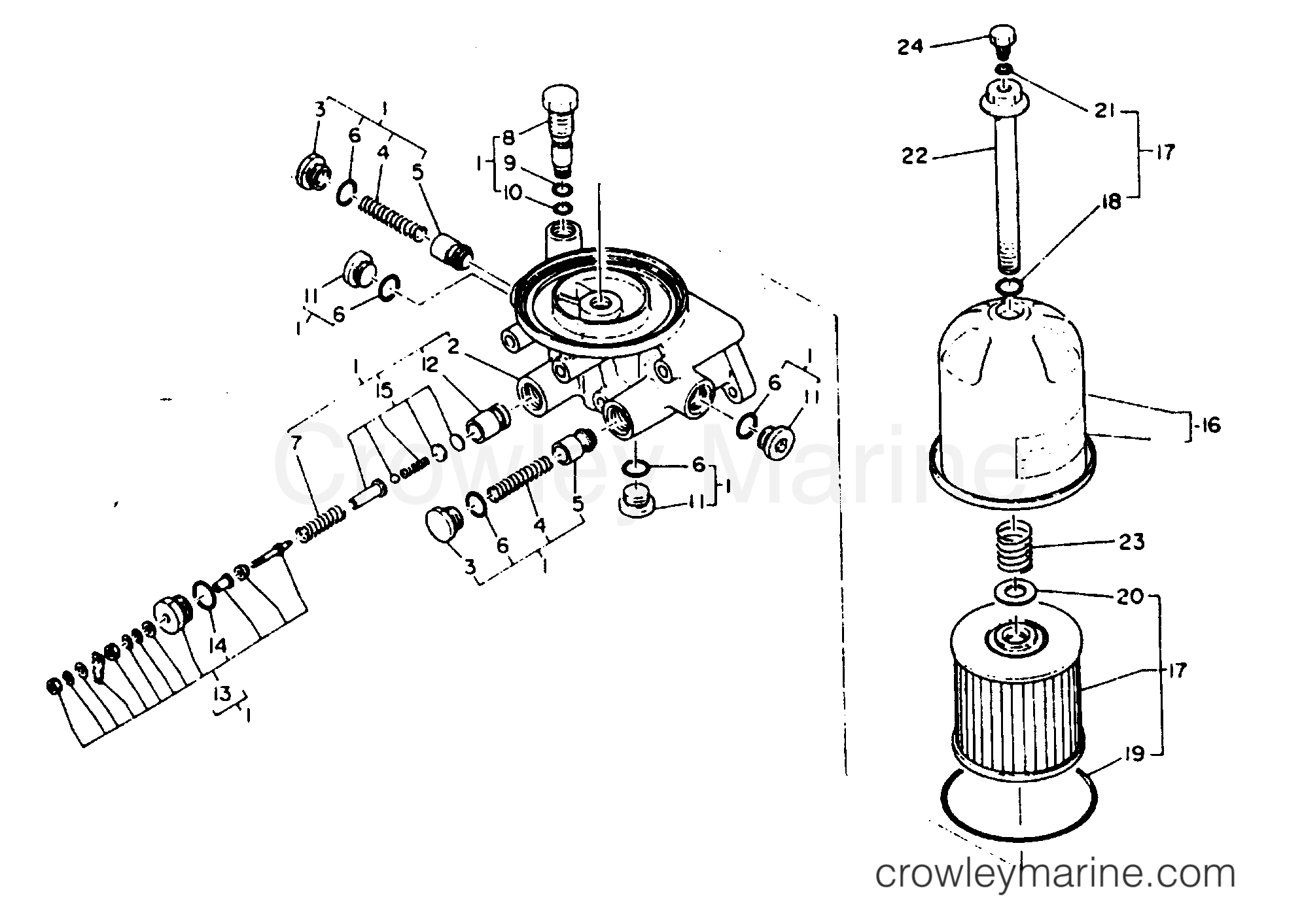 Oil Filter Base Assembly Element Set Oil Filter