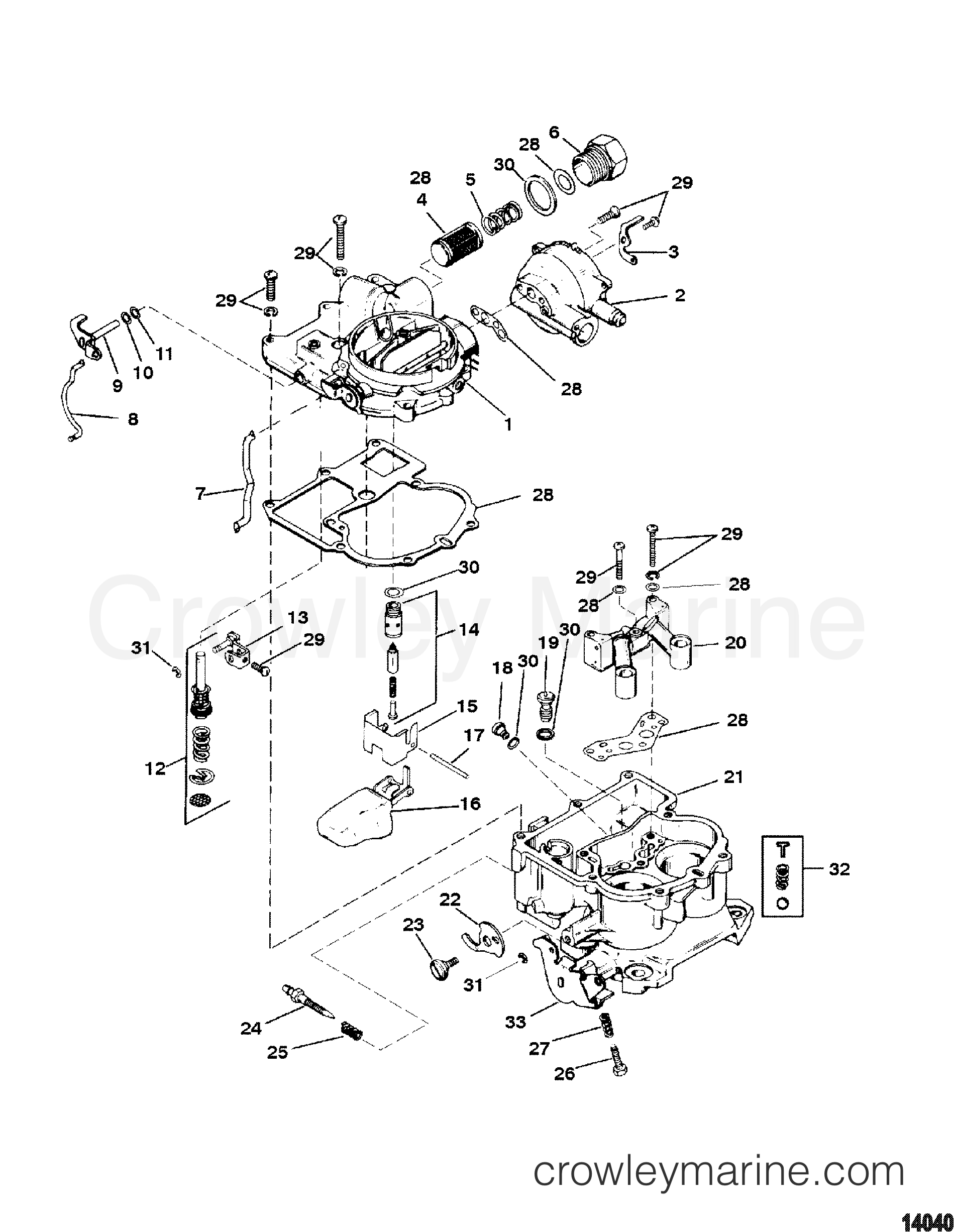 Mercruiser Carb Diagram