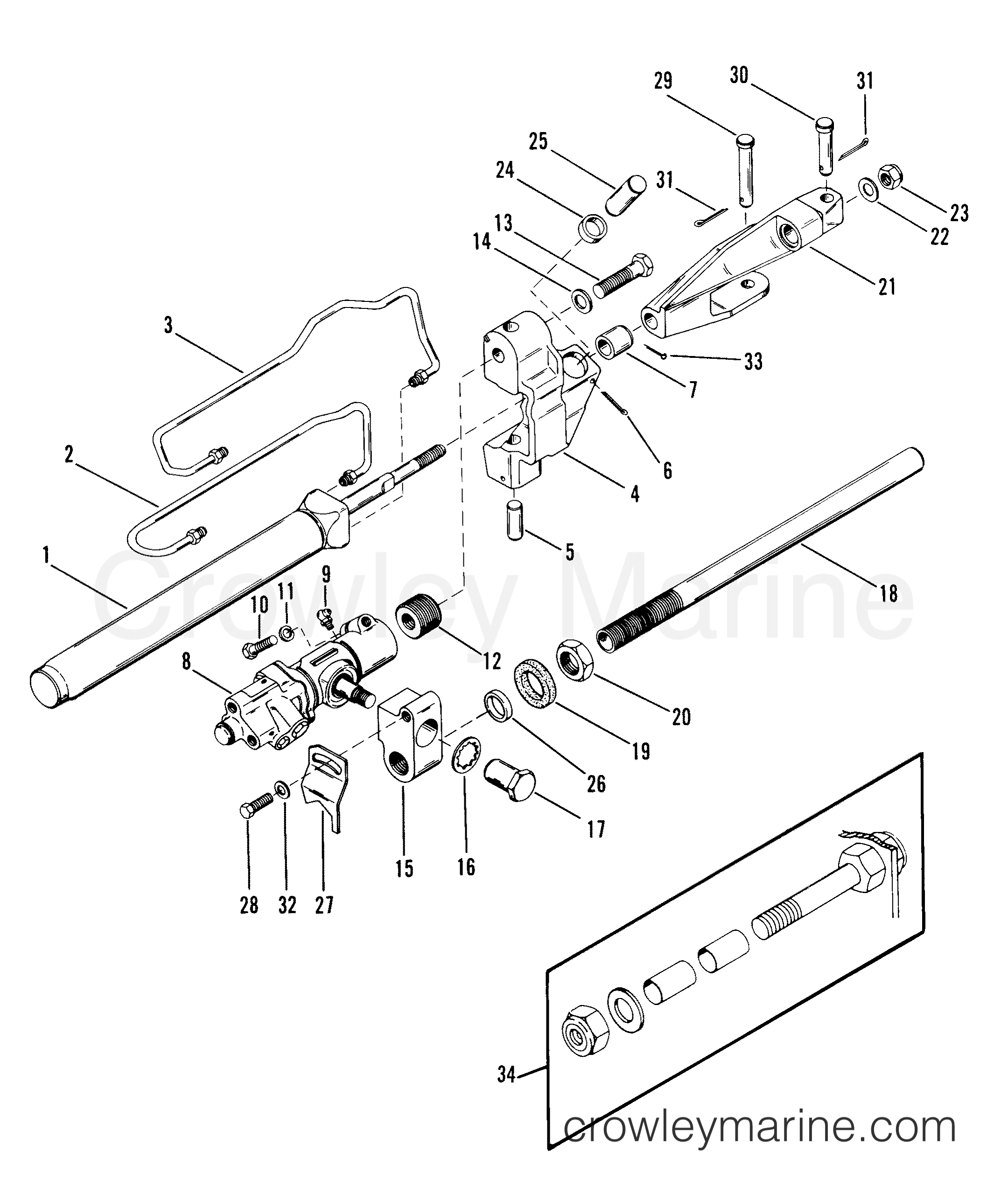 Power Steering Cylinder Assembly A15 28 33