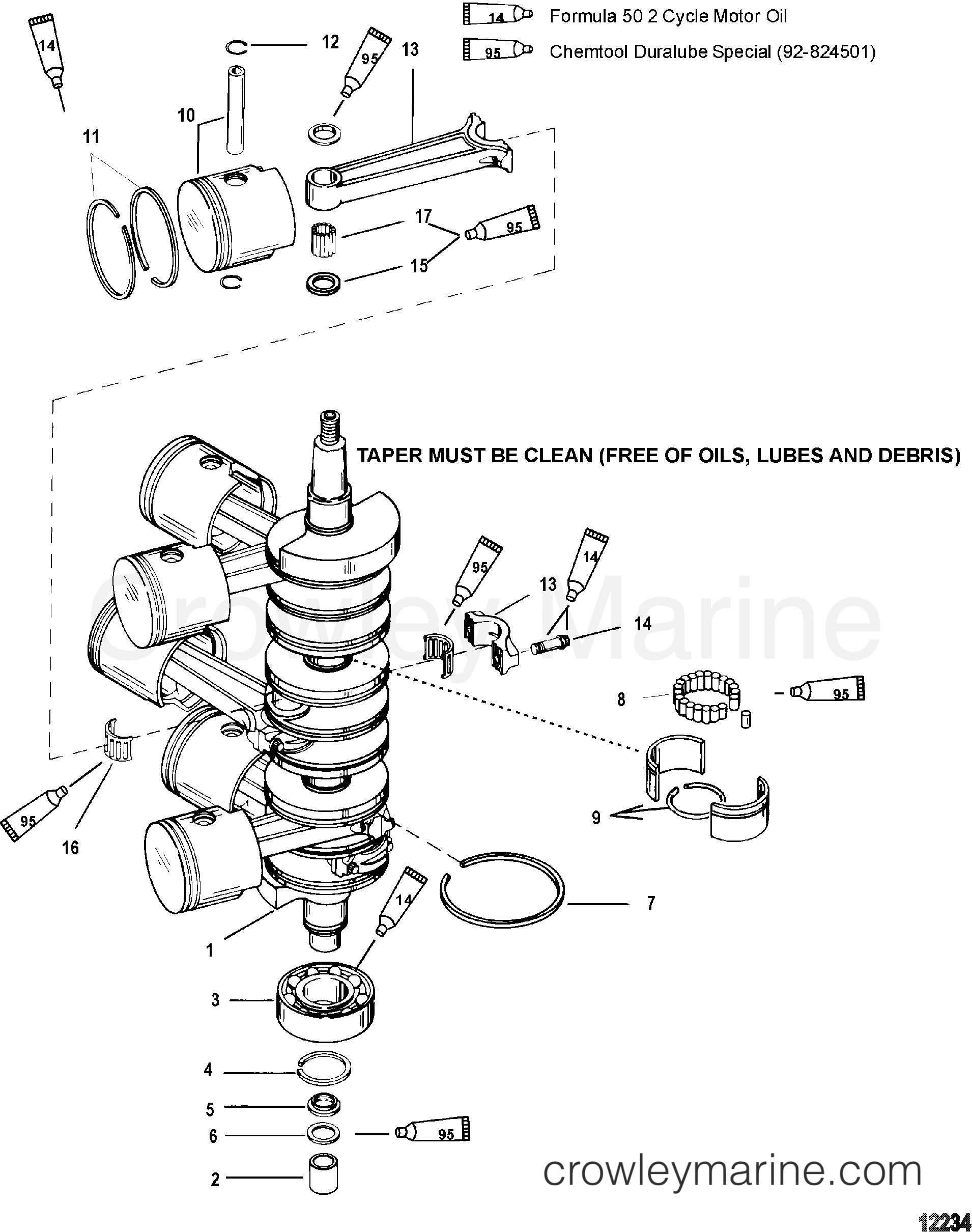 Crankshaft Pistons And Connecting Rods