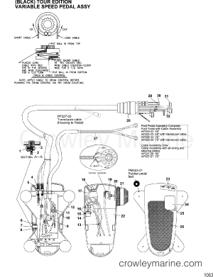 FOOT PEDAL ASSEMBLY(MAP300322  332  352  362)  2001