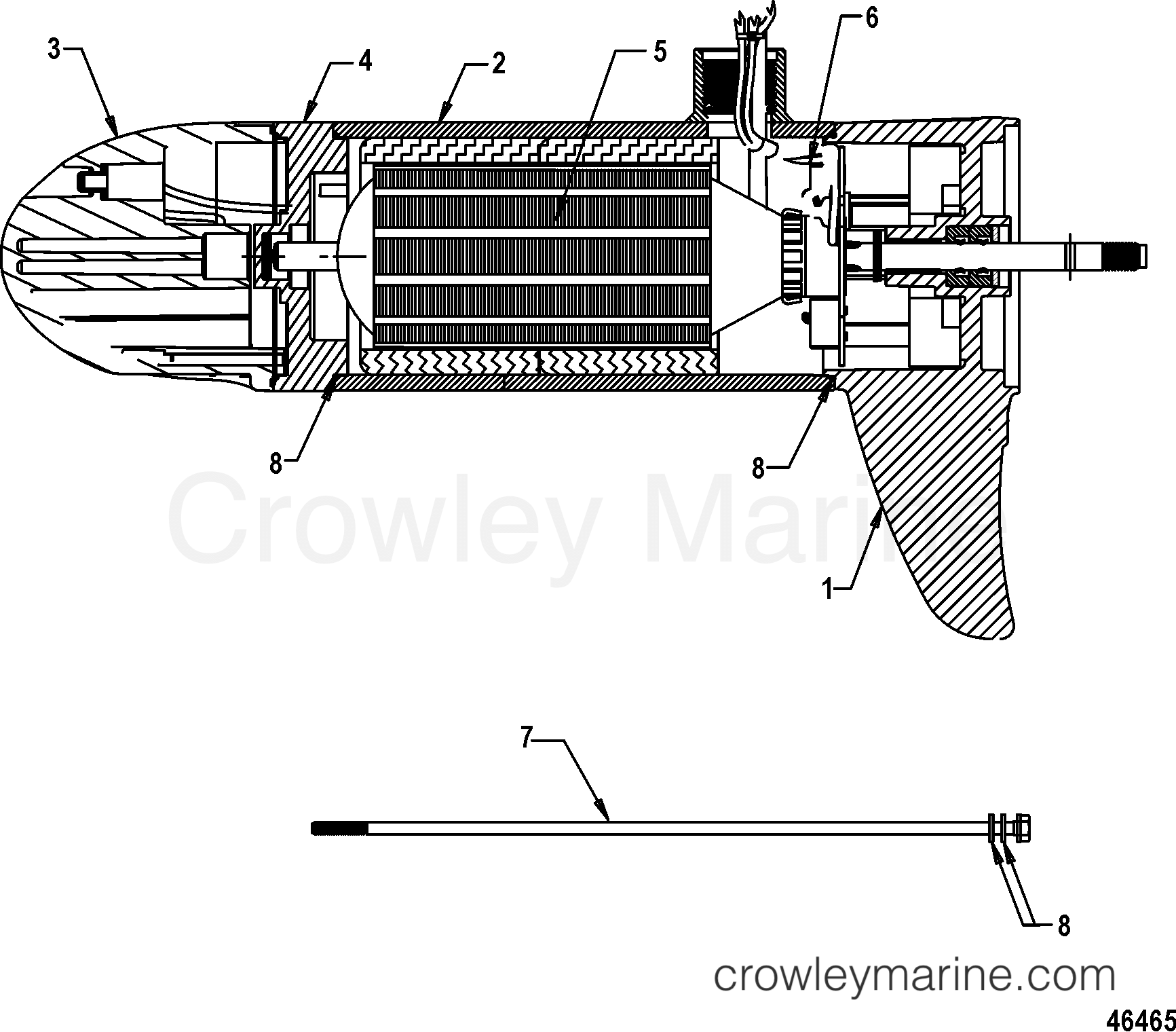 Lower Unit Assembly Fw55l