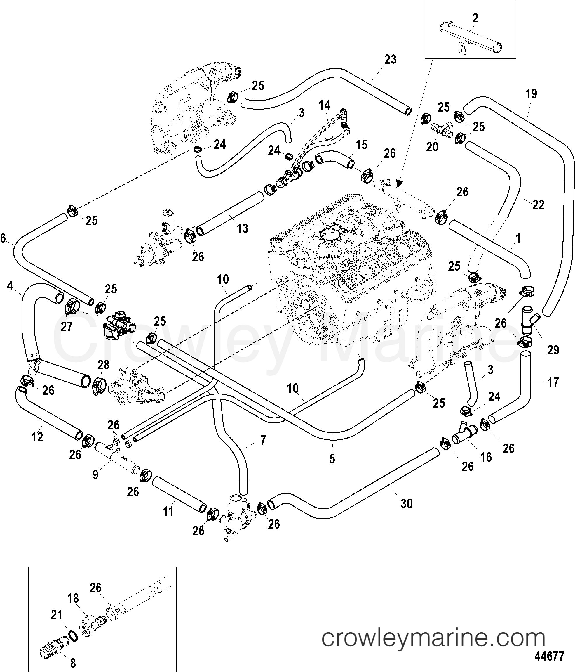 5 0 Mpi Mercruiser Cooling System Diagram