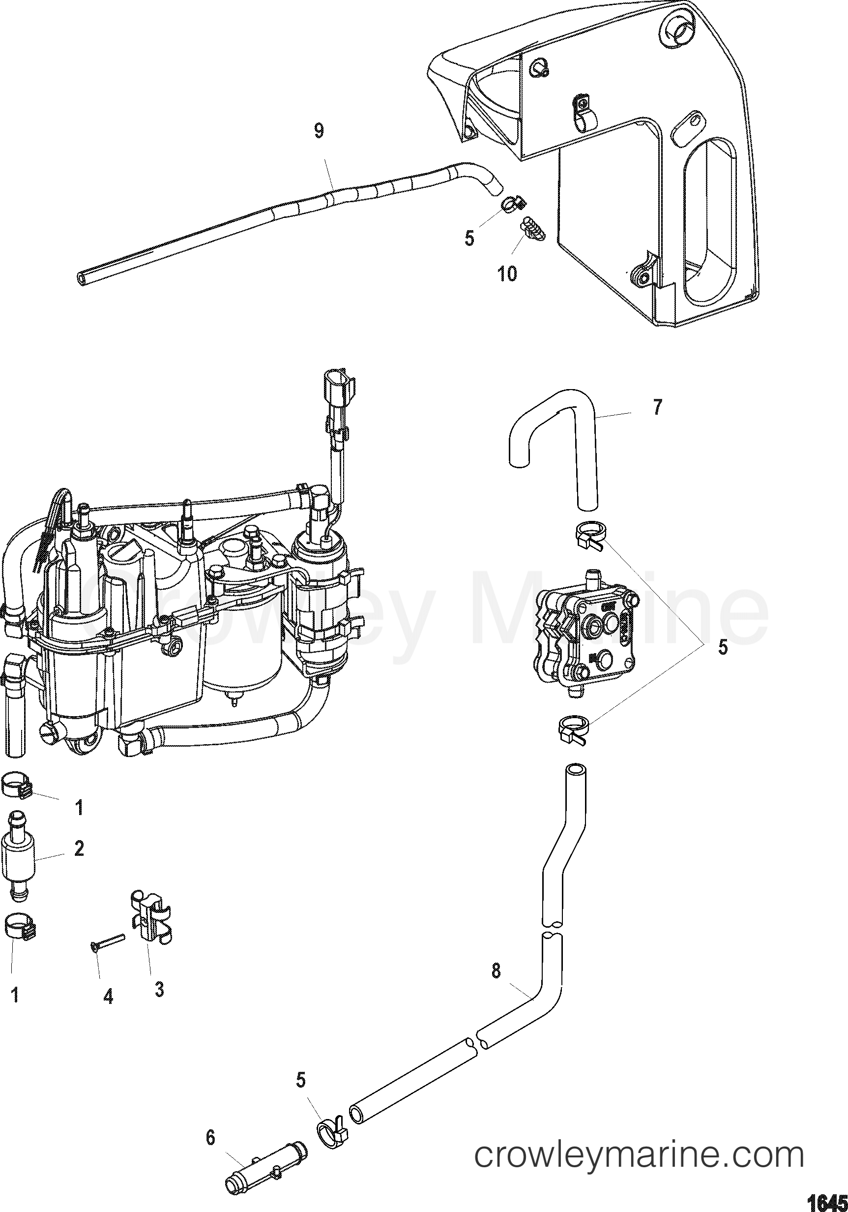 Evinrude 15 Hp Fuel Pump Diagram