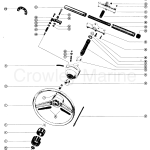 Ride Guide Steering Wheel Assembly C Various Years Rigging Parts Power Steering Tiller Handles Shift Kits Mc Ride Guide 1985 And Below Crowley Marine