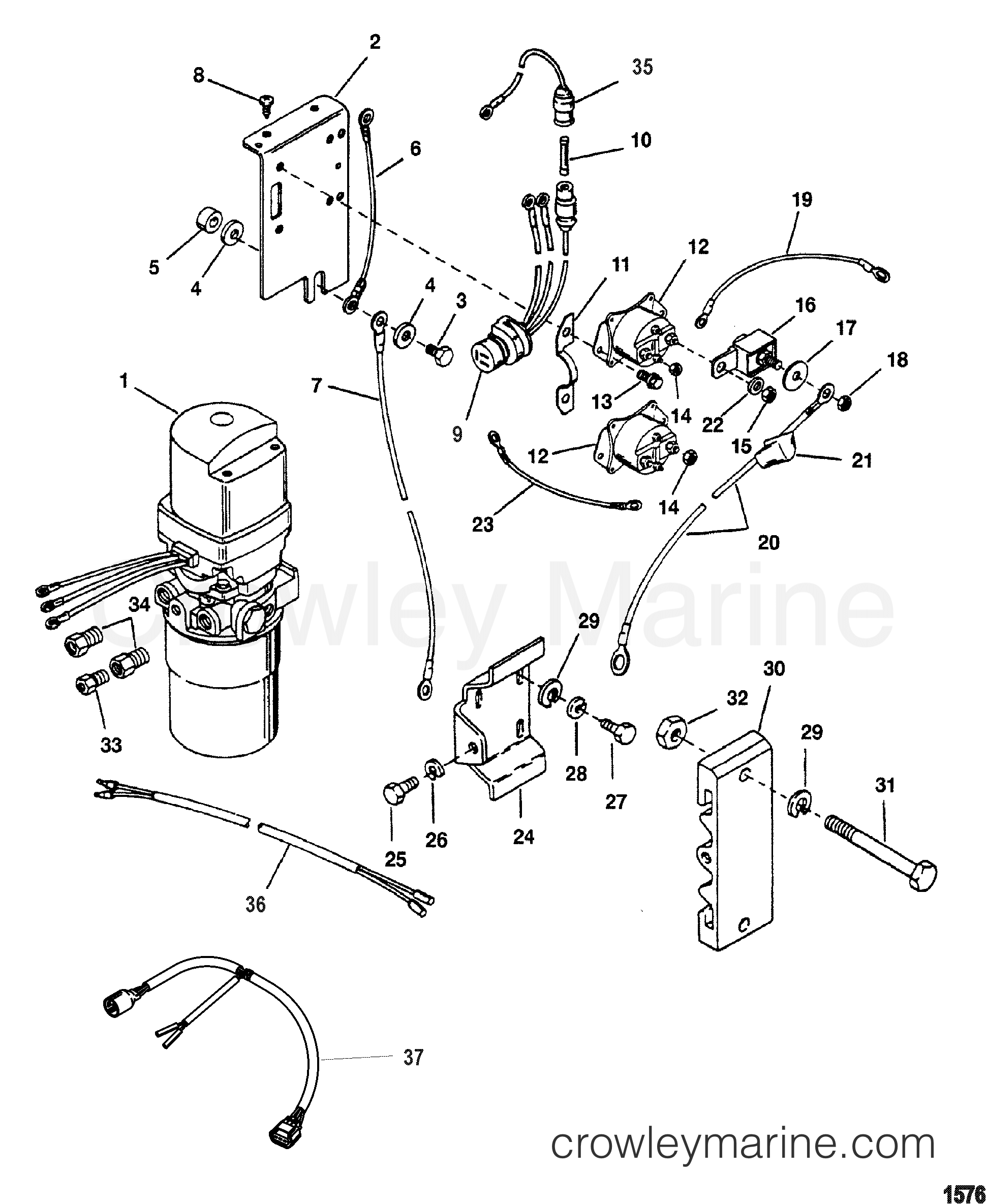 Hydraulic Pump And Mounting Brackets