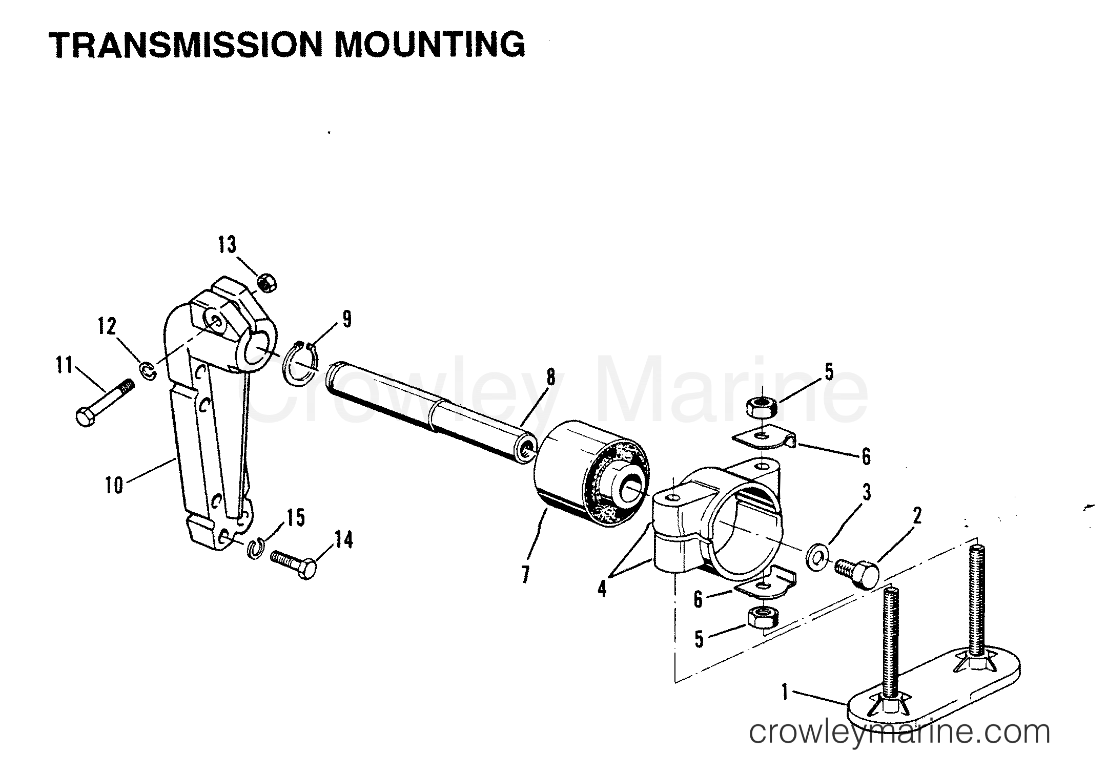 Transmission Mounting Inboard