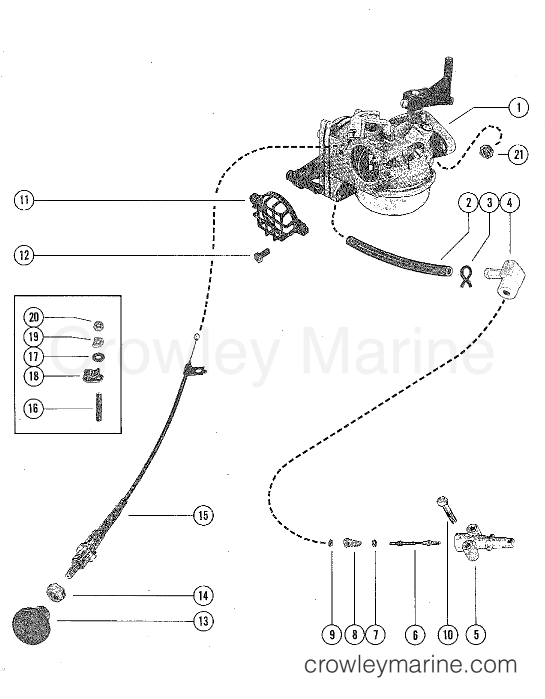 Carburetor And Choke Assembly