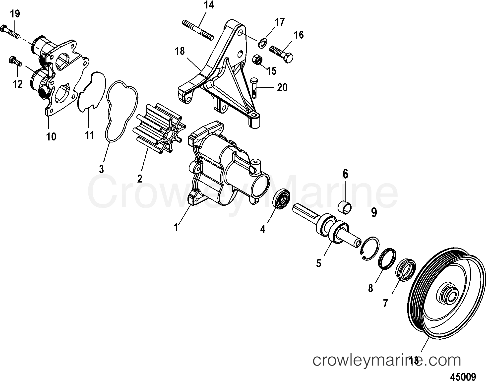Sea Water Pump Assembly