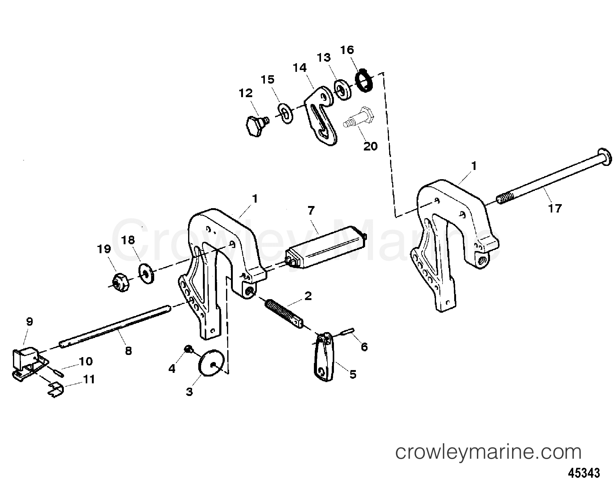 Clamp Brackets Serial 0e Thru 0e