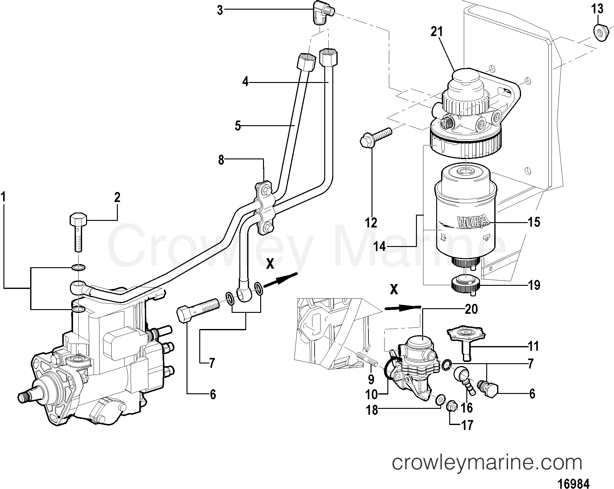 Fuel Pump And Filter All Electronic Engines