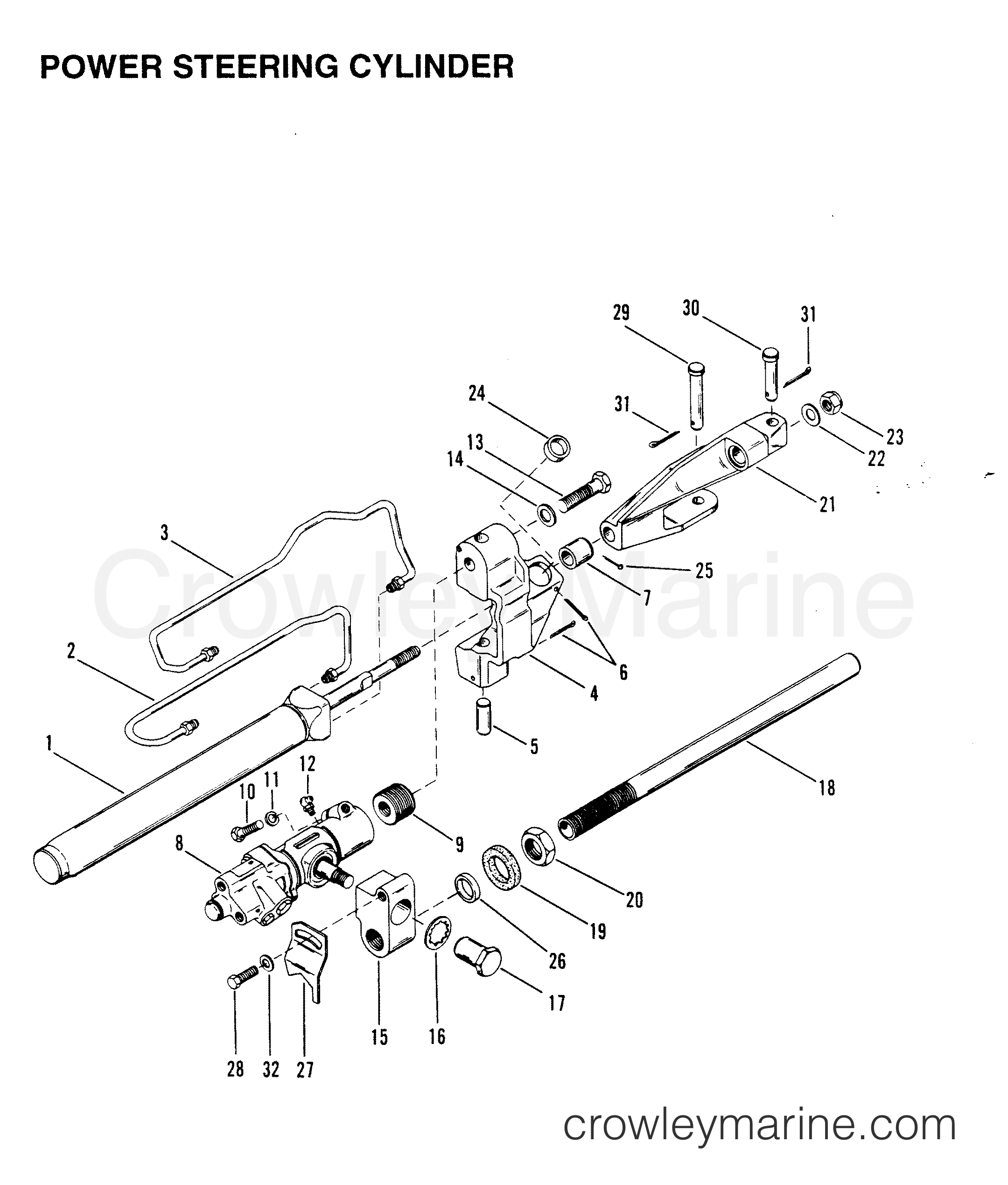 Power Steering Cylinder Stern Drive