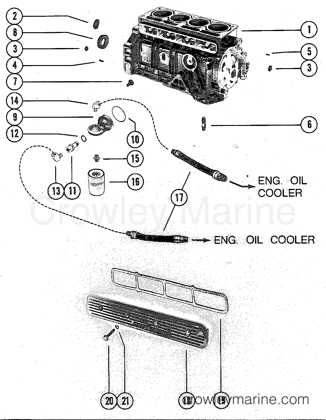 Cylinder Block Assembly And Oil Filter Adaptor