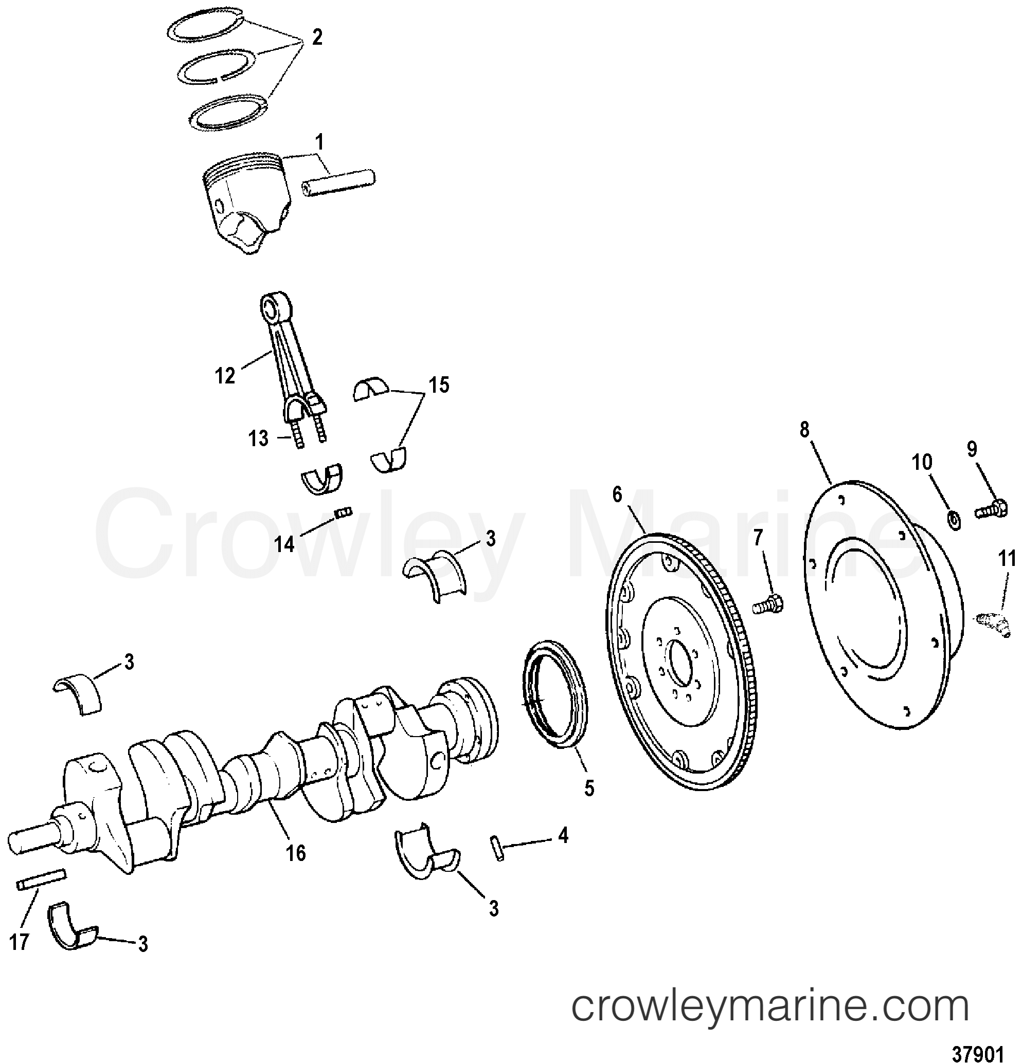 Crankshaft Pistons Amp Connecting Rods
