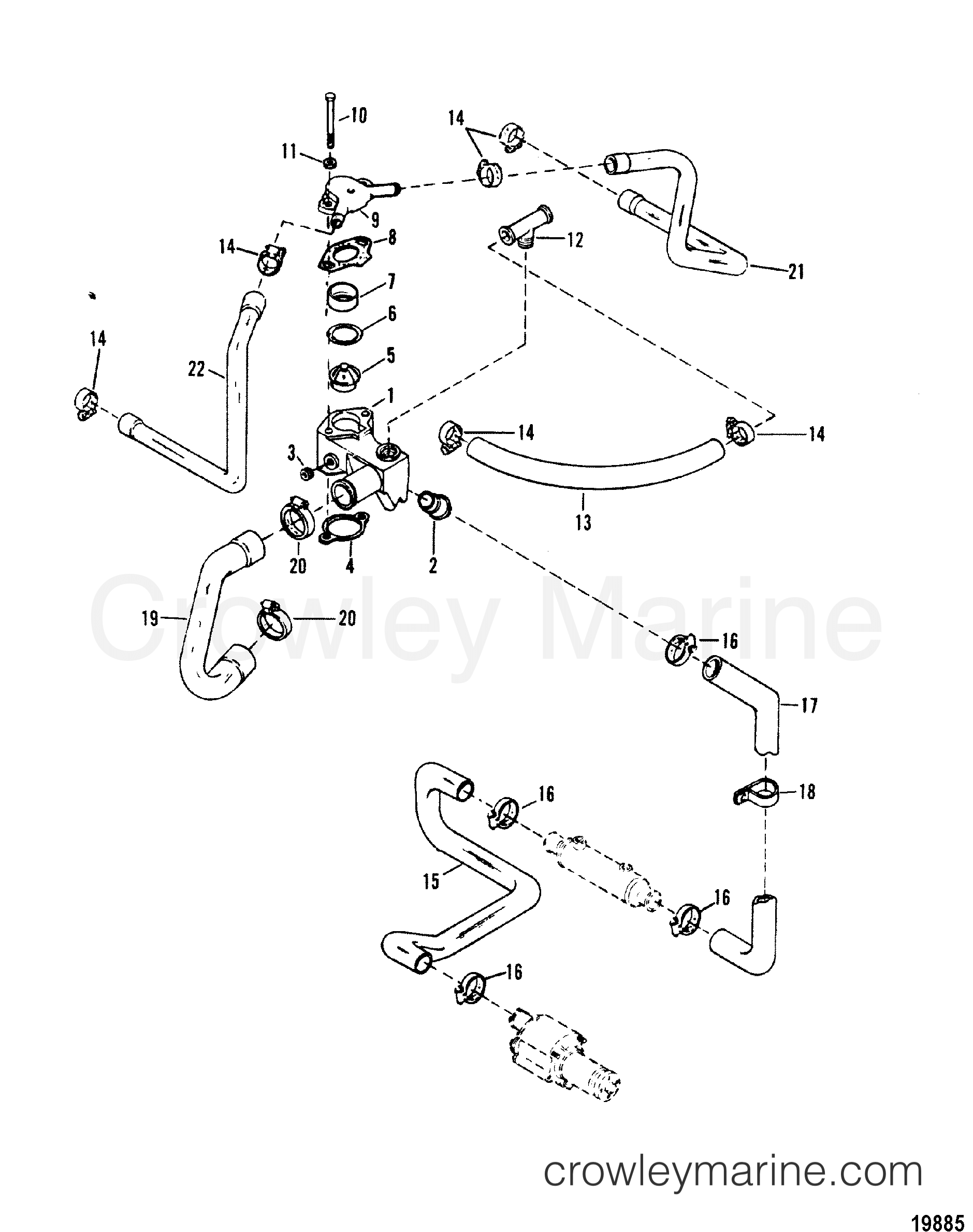 Thermostat Housing Standard Cooling