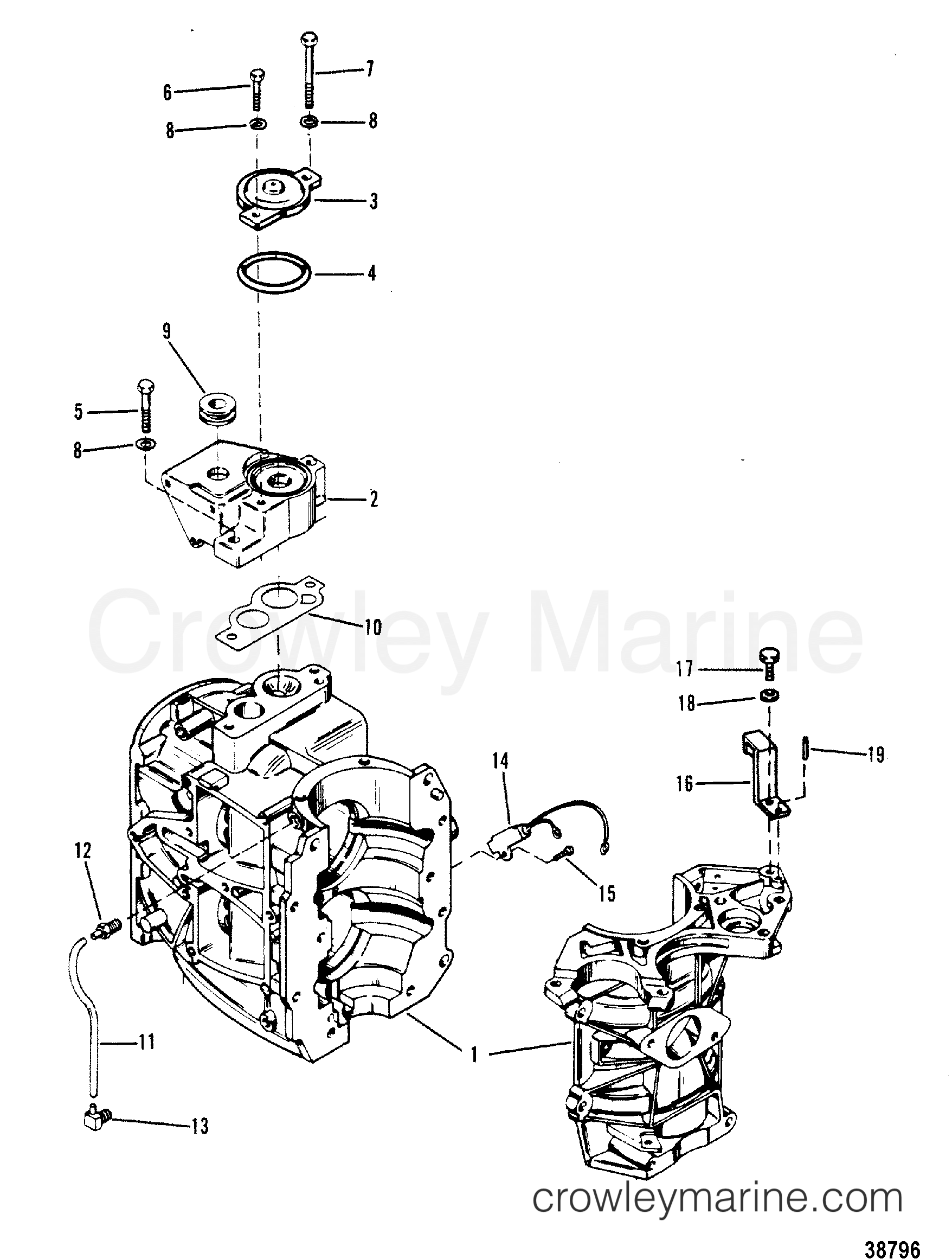 Cylinder Block And Thermostat
