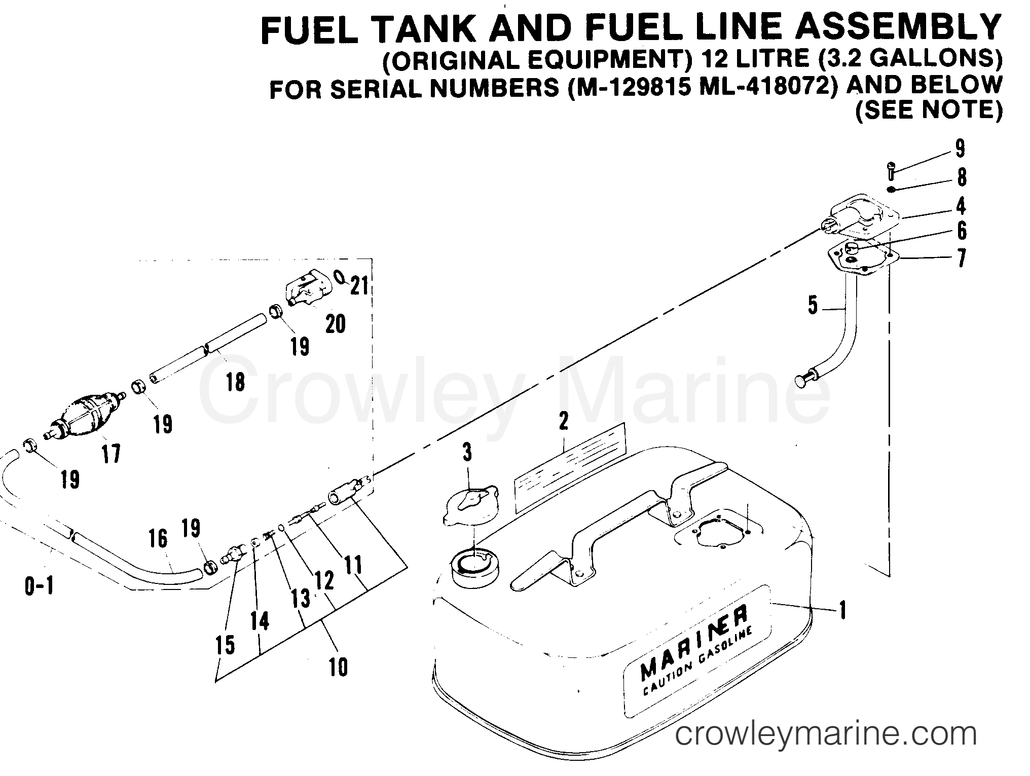 Fuel Tank And Fuel Line Assembly