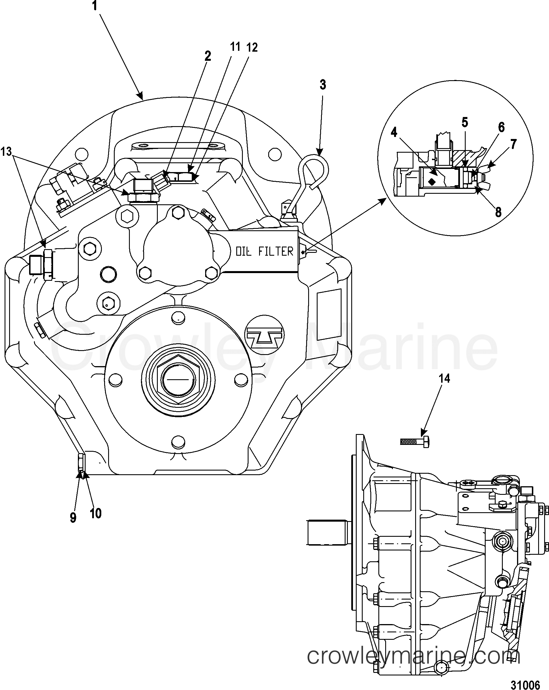 Transmission And Related Parts Inboard Technodrive 345
