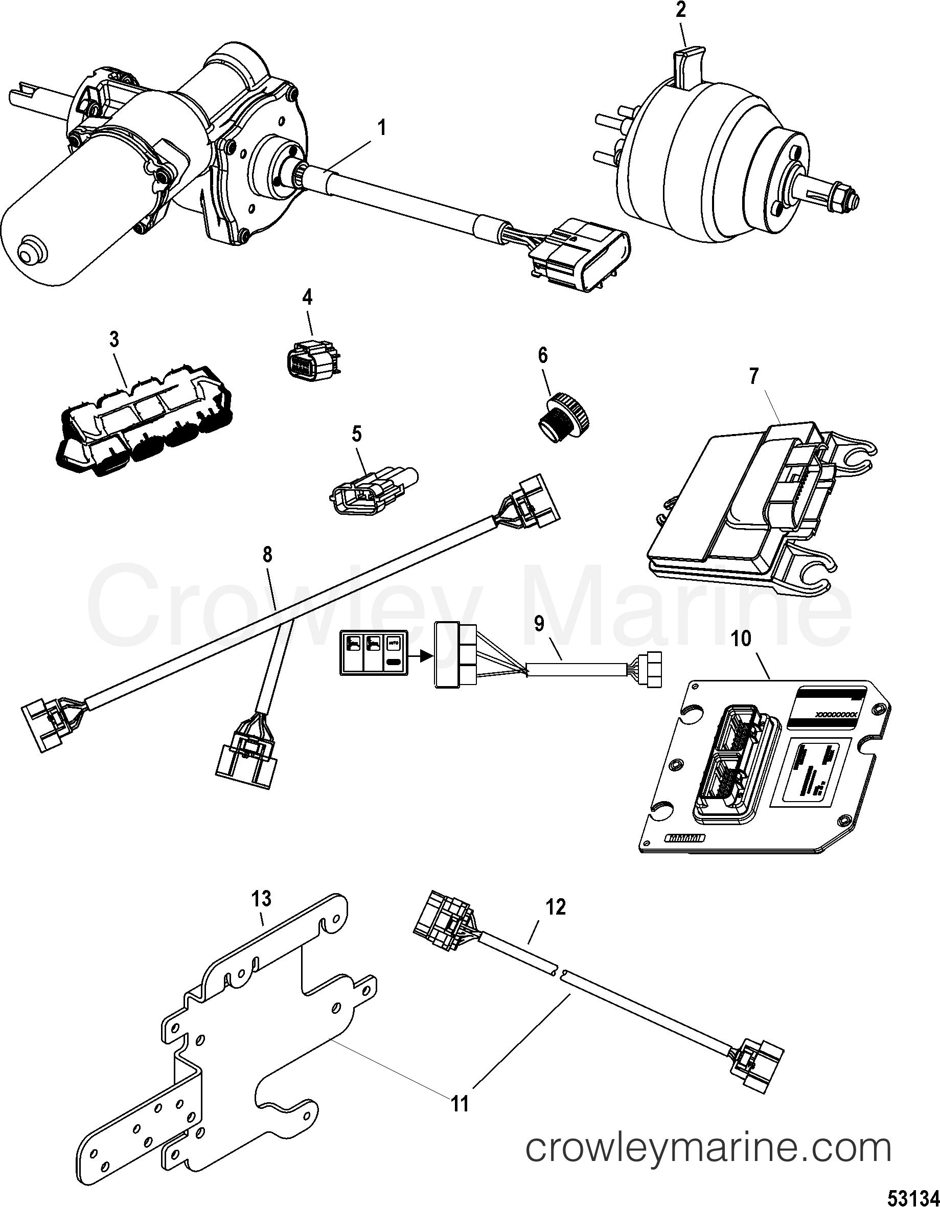 Helm Actuator Harness And Connectors Zeus