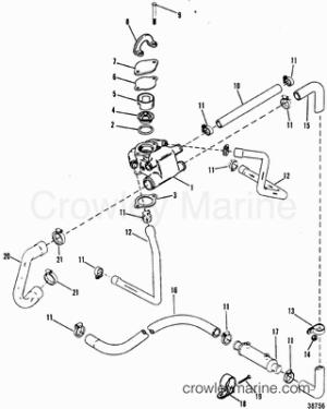 1993 Mercruiser 43L [ALPHA] [443B1003S]  Parts Lookup