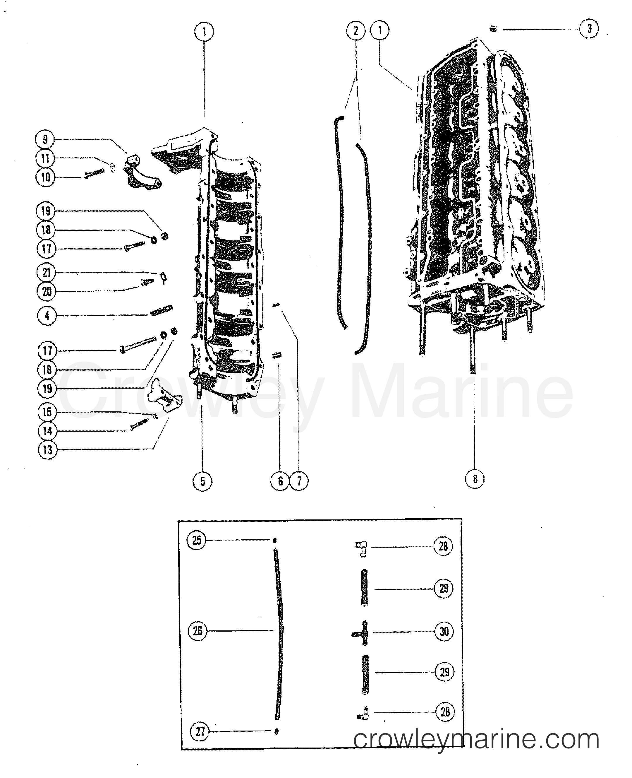 Cylinder Block And Crankcase Assembly