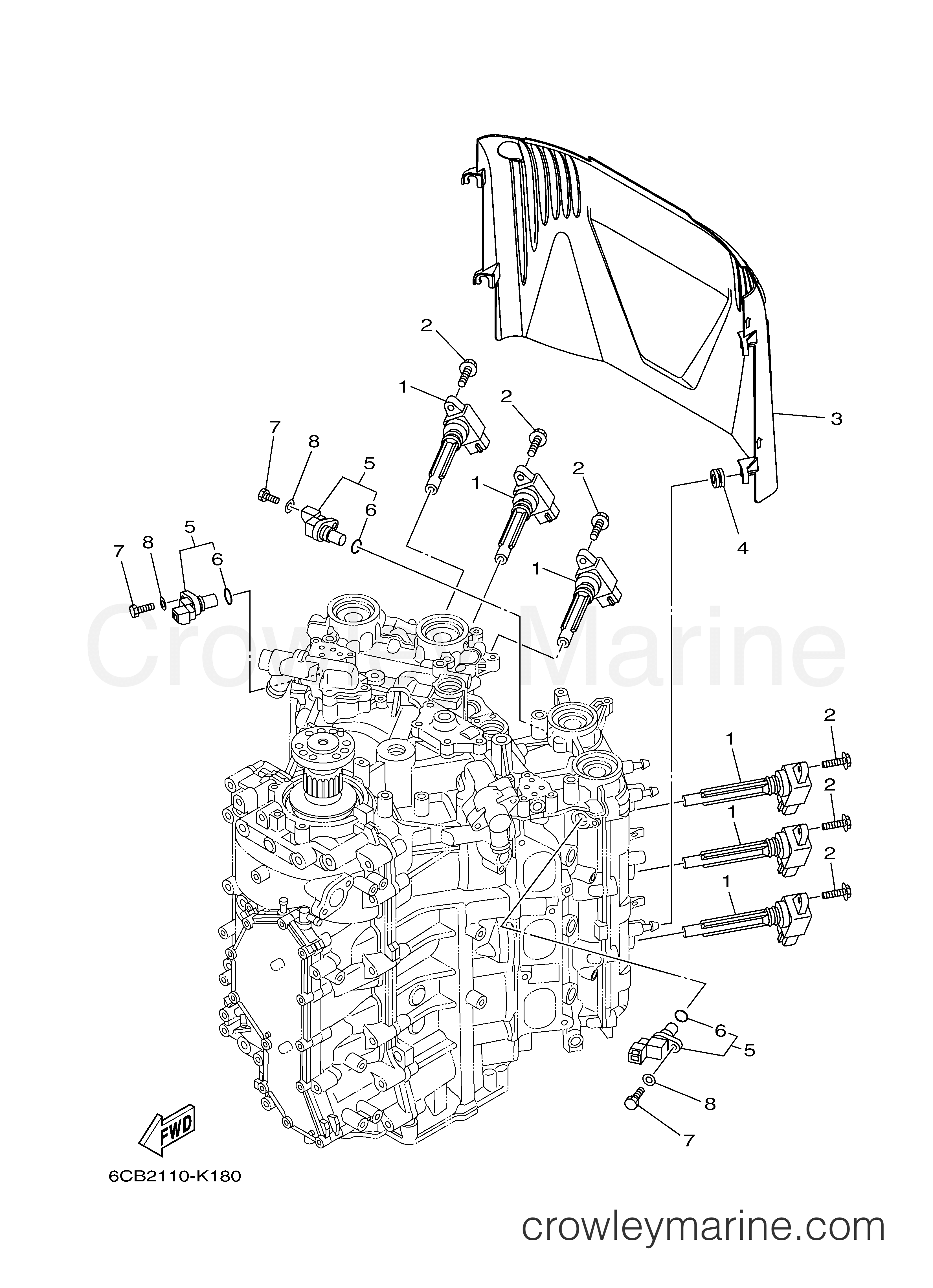 Yamaha 250 Outboard Wiring