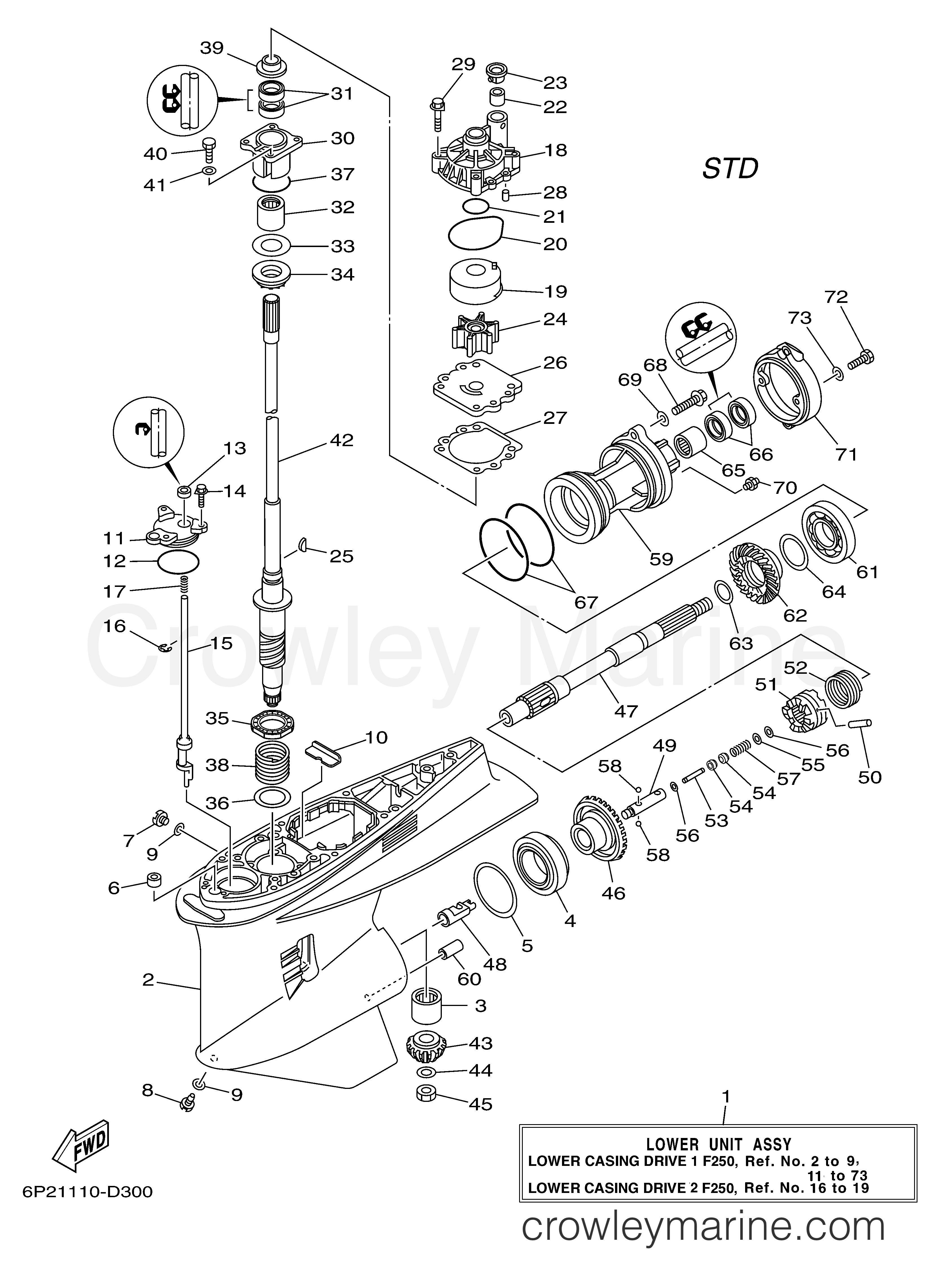 Lower Casing Drive 1 F250