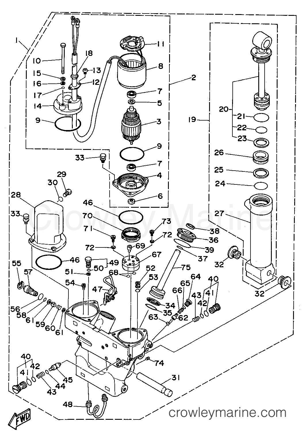 Power Trim Tilt Assembly 1